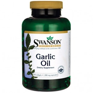 SWANSON GARLIC OIL 1,500mg - 500 kaps